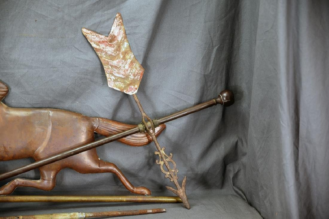 Copper Horse Weathervane and Parts - 3