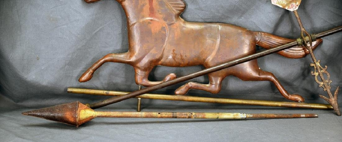 Copper Horse Weathervane and Parts - 4