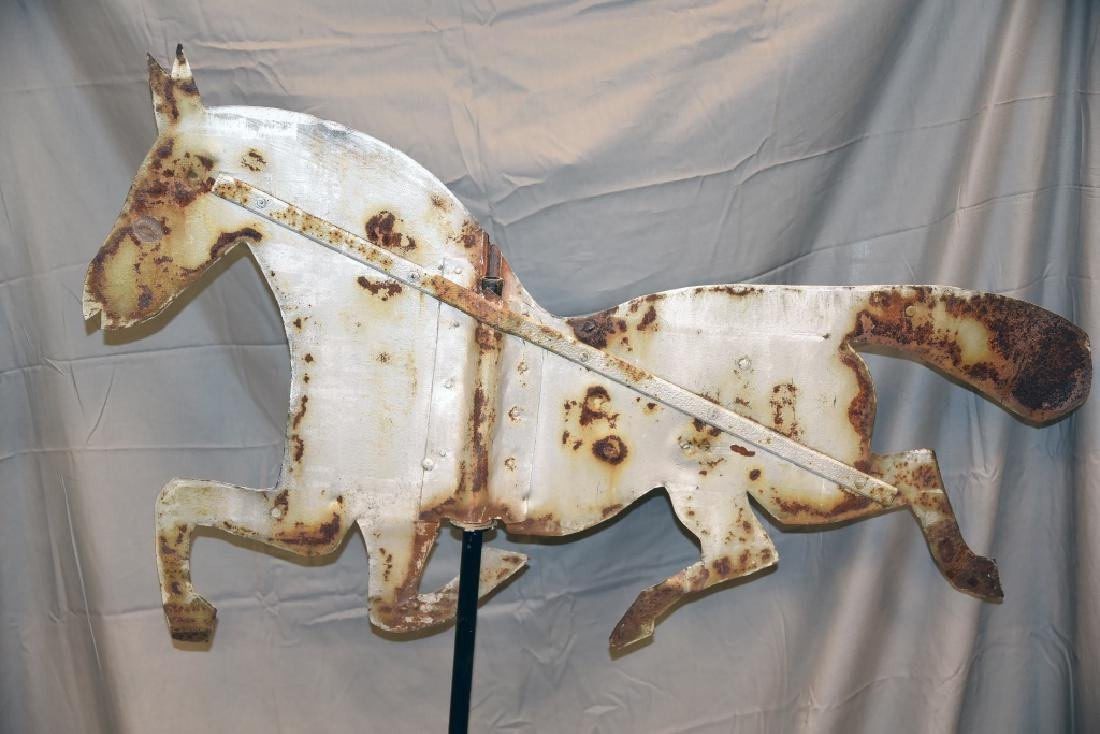 Tin Horse Primitive Silhouette Weathervane - 2