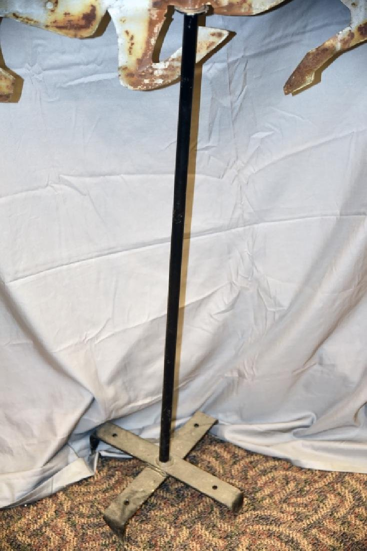Tin Horse Primitive Silhouette Weathervane - 3