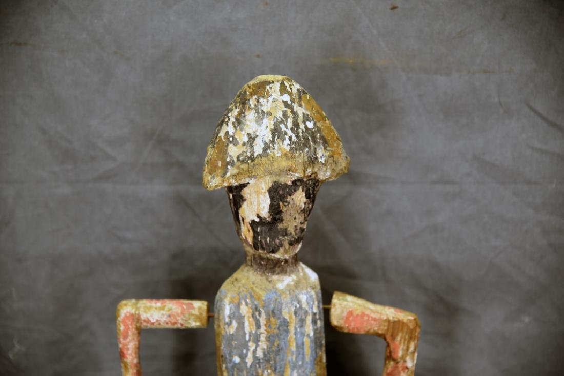 Folk Art Whirligig Soldier and Stand - 10
