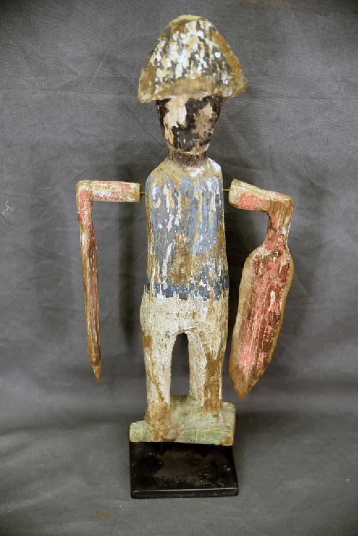 Folk Art Whirligig Soldier and Stand - 9