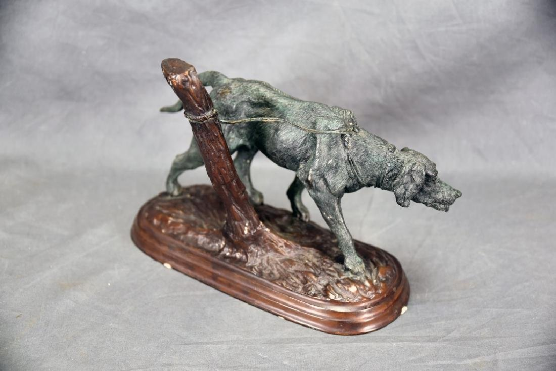 Dog Tied to a Post Bronze - 3