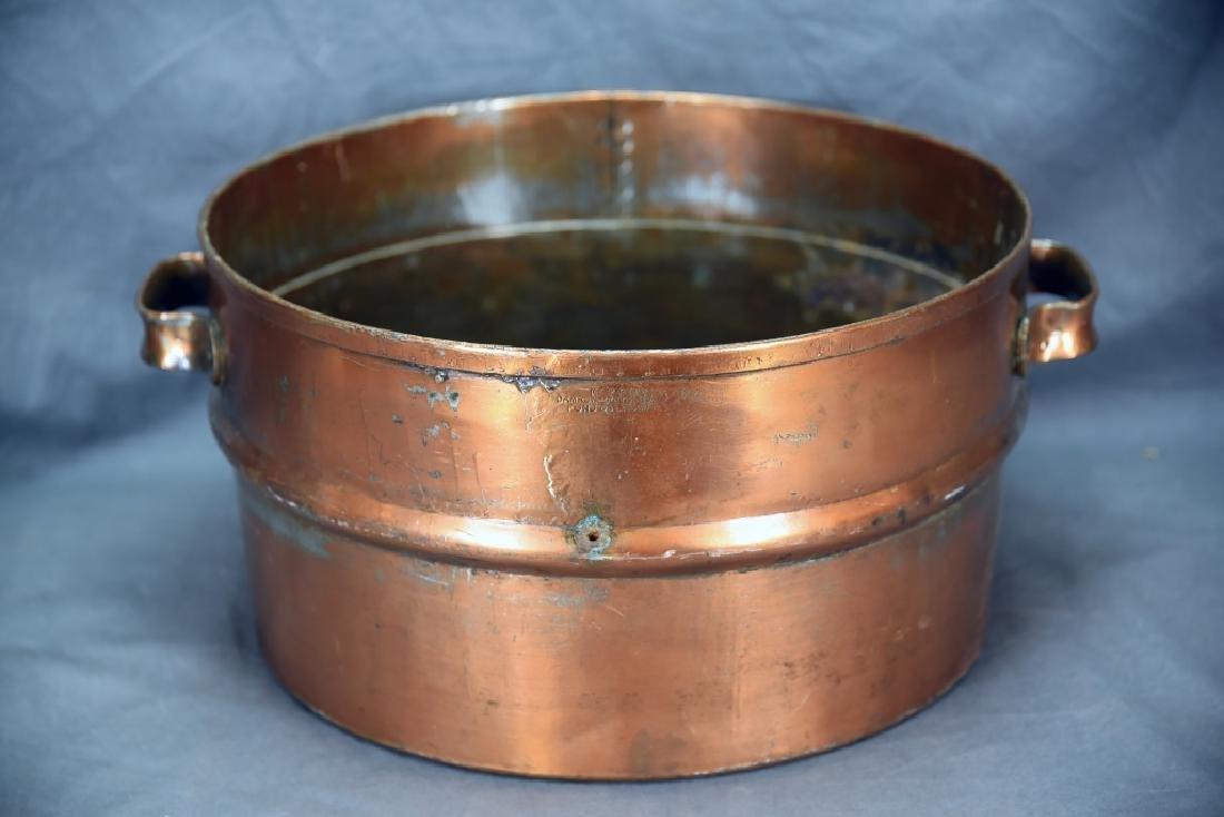 2 Handled Copper Collander