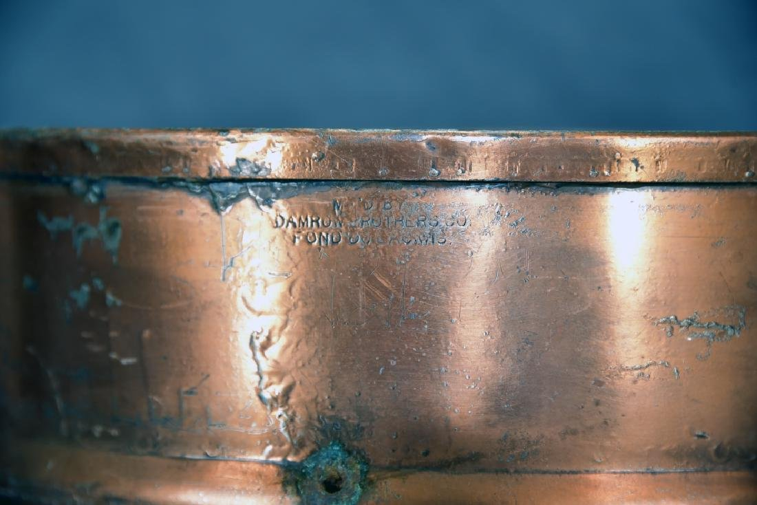 2 Handled Copper Collander - 2