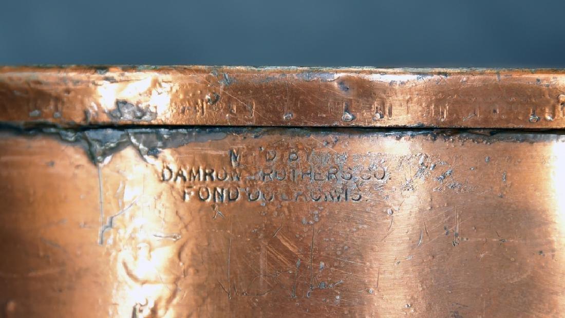 2 Handled Copper Collander - 3