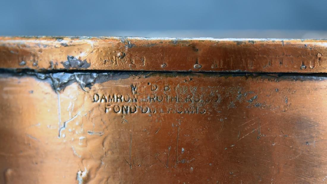 2 Handled Copper Collander - 4