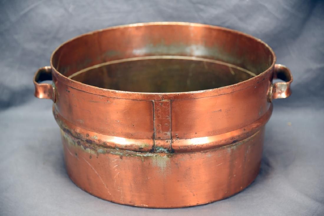 2 Handled Copper Collander - 5