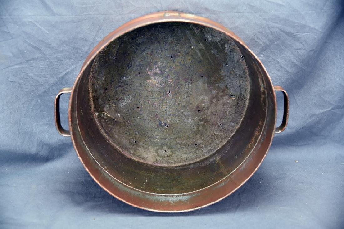 2 Handled Copper Collander - 6