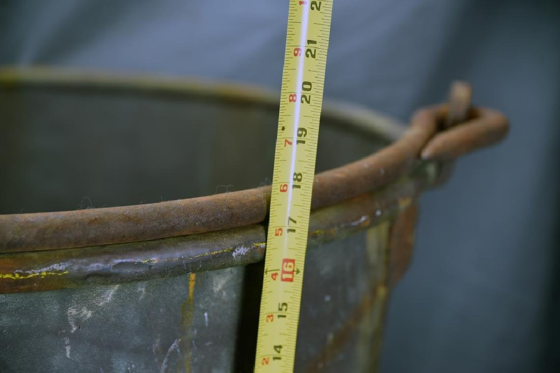 Large Copper Pail with Iron Handle - 3