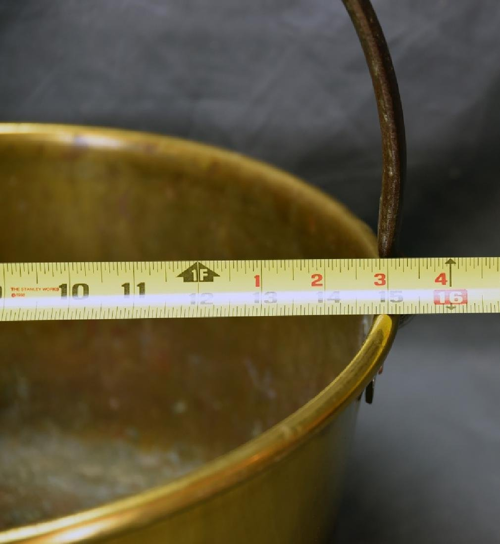 Brass Pail with Iron Handle - 2