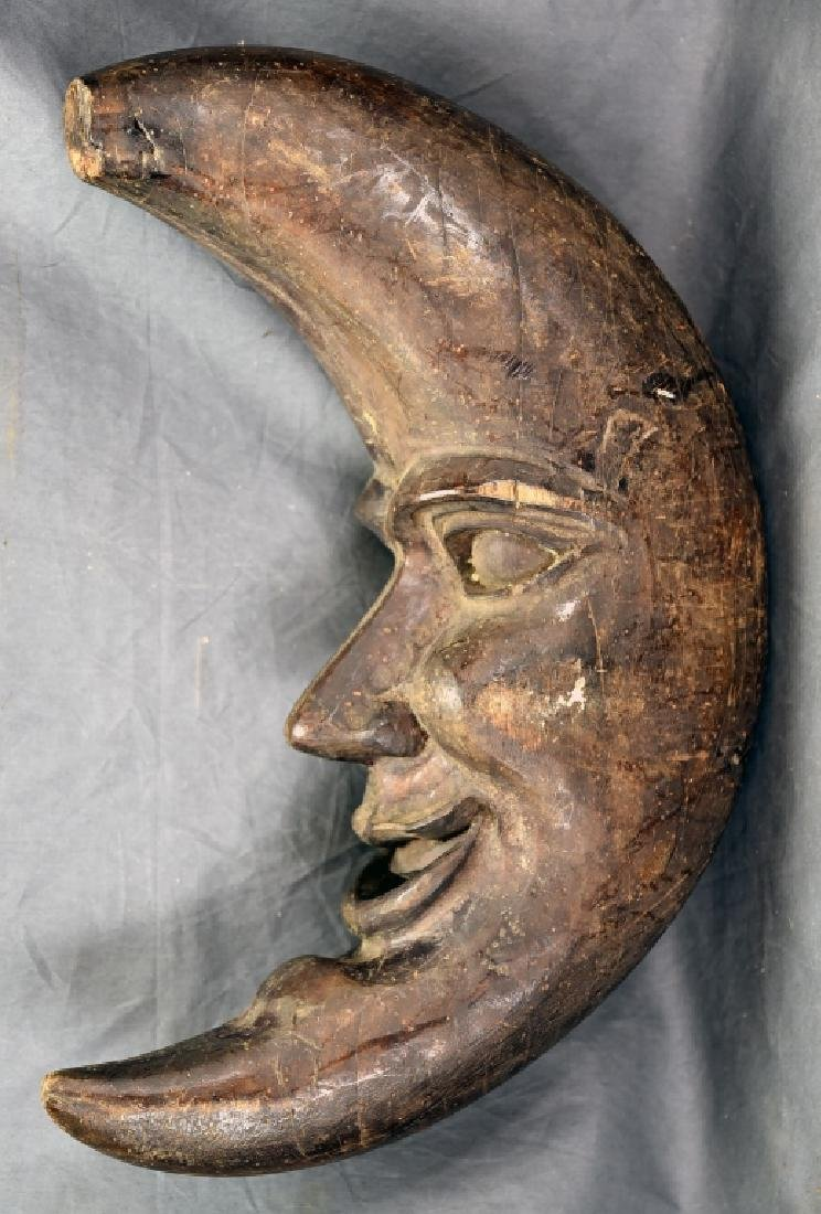 Man in the Moon Wooden Paper Mache Mold