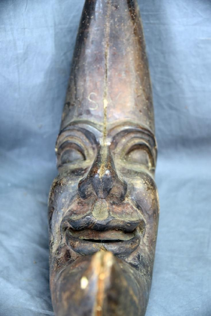 Man in the Moon Wooden Paper Mache Mold - 3