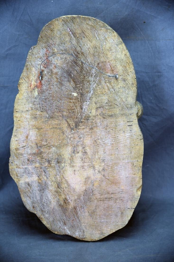 Santa Head Carved Wooden Paper Mache Mold - 4
