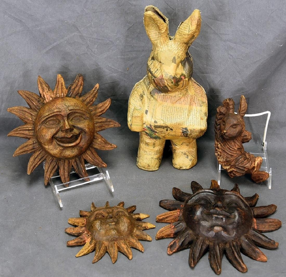 5 Wooden Paper Mache Molds