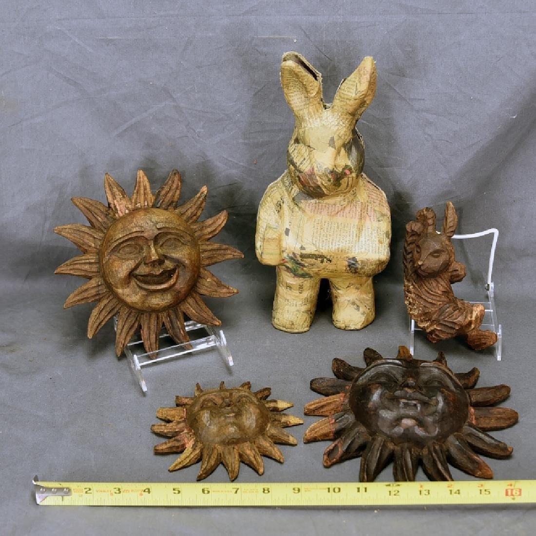 5 Wooden Paper Mache Molds - 2