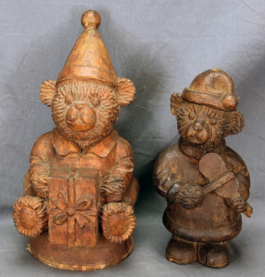 2 Teddy Bear Wooden Paper Mache Molds