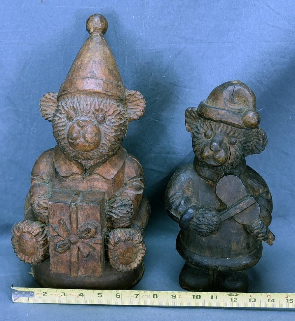 2 Teddy Bear Wooden Paper Mache Molds - 2