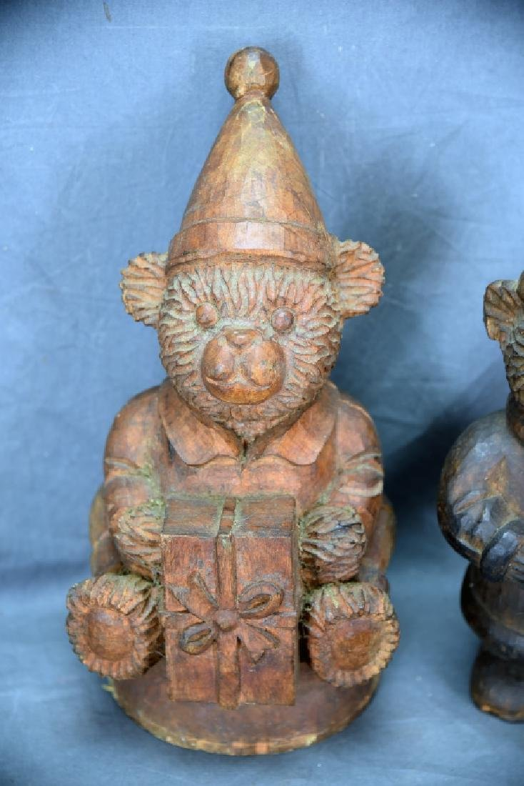 2 Teddy Bear Wooden Paper Mache Molds - 3
