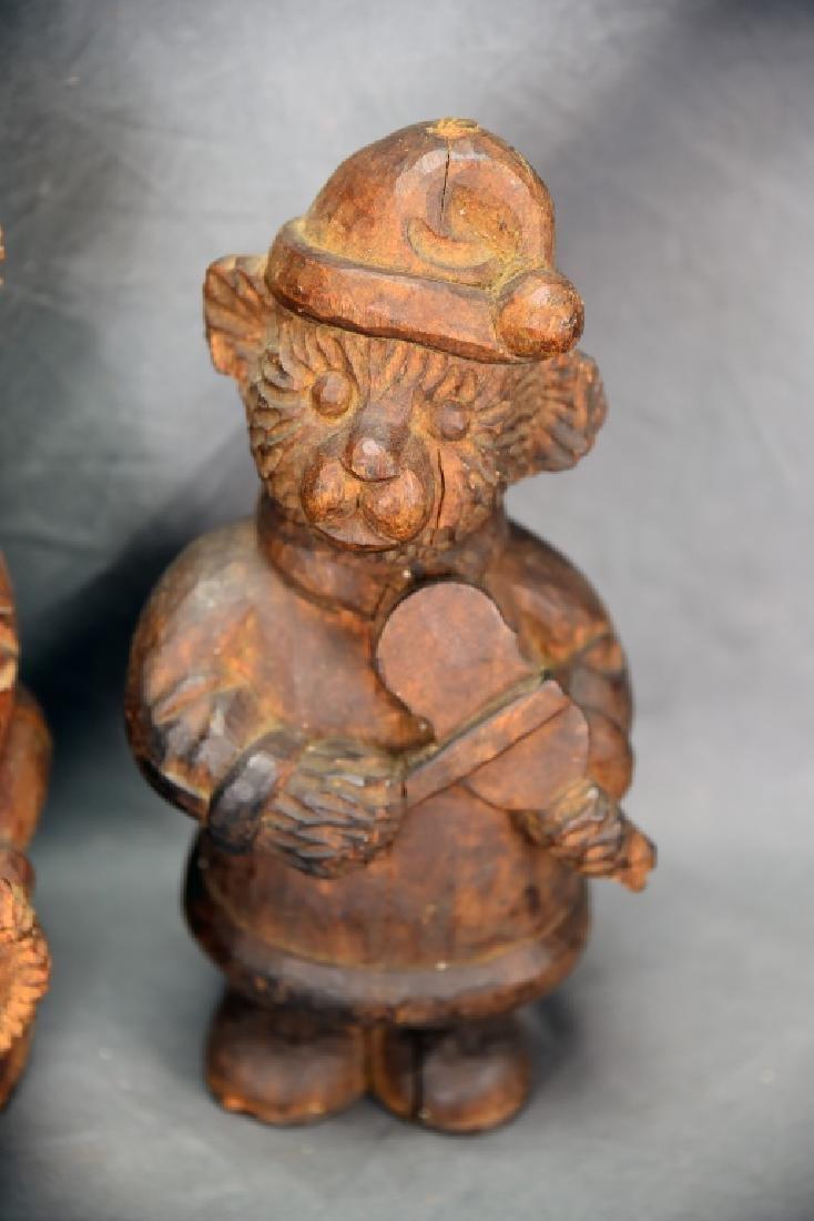 2 Teddy Bear Wooden Paper Mache Molds - 4