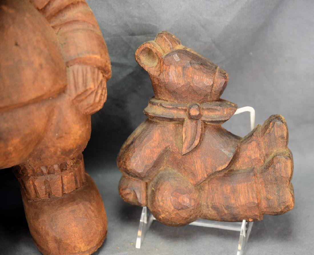 3 Carved Wooden Bear Paper Mache Molds - 4