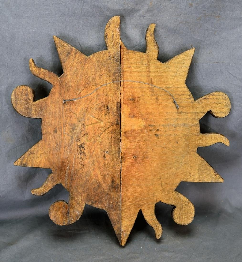 Carved Wooden Star Sun Paper Mache Mold… - 2