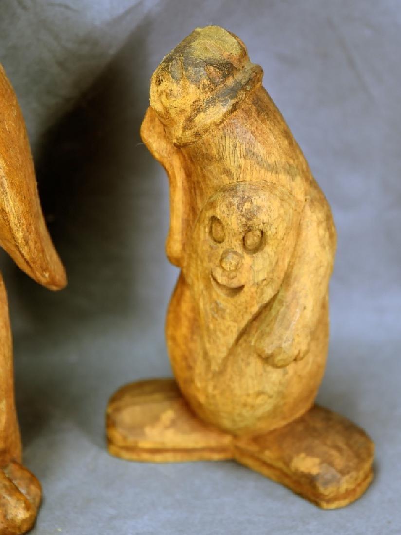 3 Wood Paper Mache Molds, Penguin, Schmoo, Snowman - 2