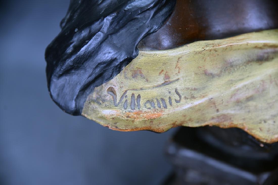 Art Nouveau Villanis Plaster Bust Of Beatrix - 4