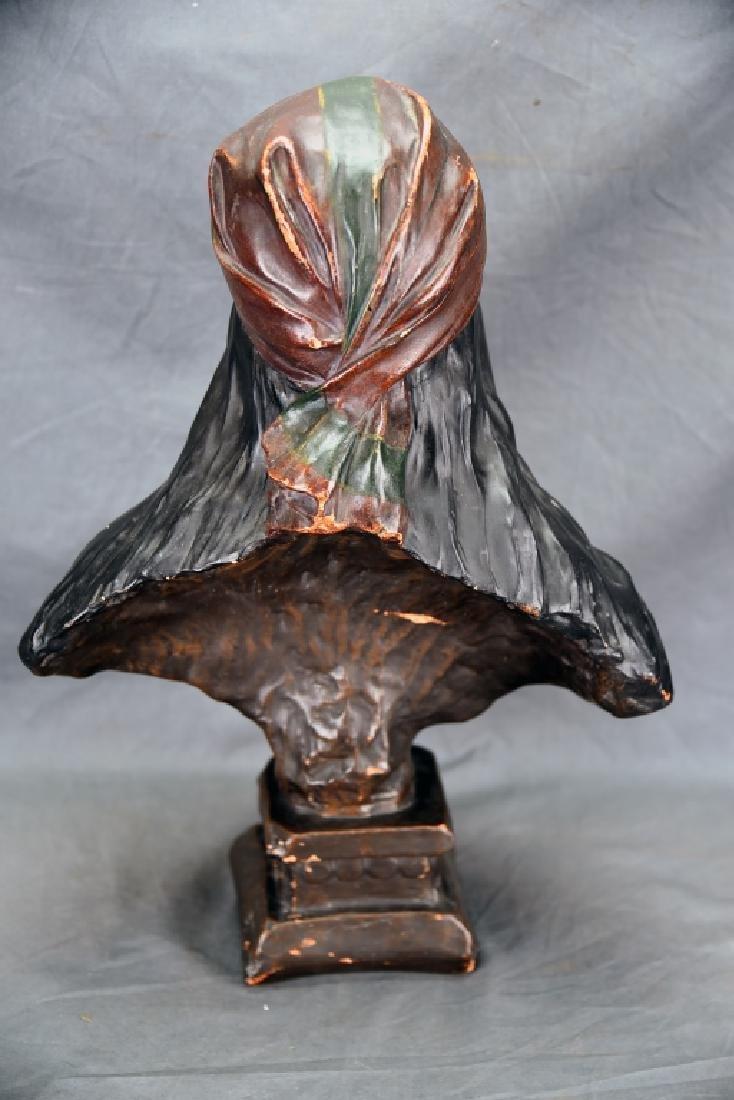 Art Nouveau Villanis Plaster Bust Of Beatrix - 6