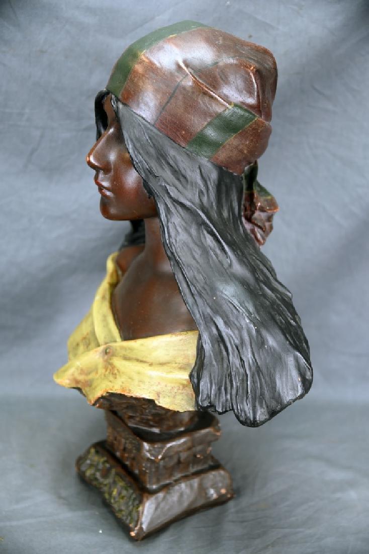 Art Nouveau Villanis Plaster Bust Of Beatrix - 7