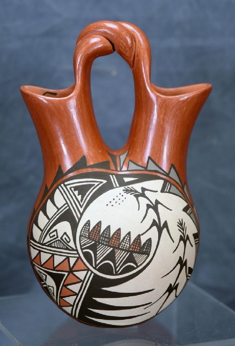 Juanita Fagua Native American Redware Pottery Jug