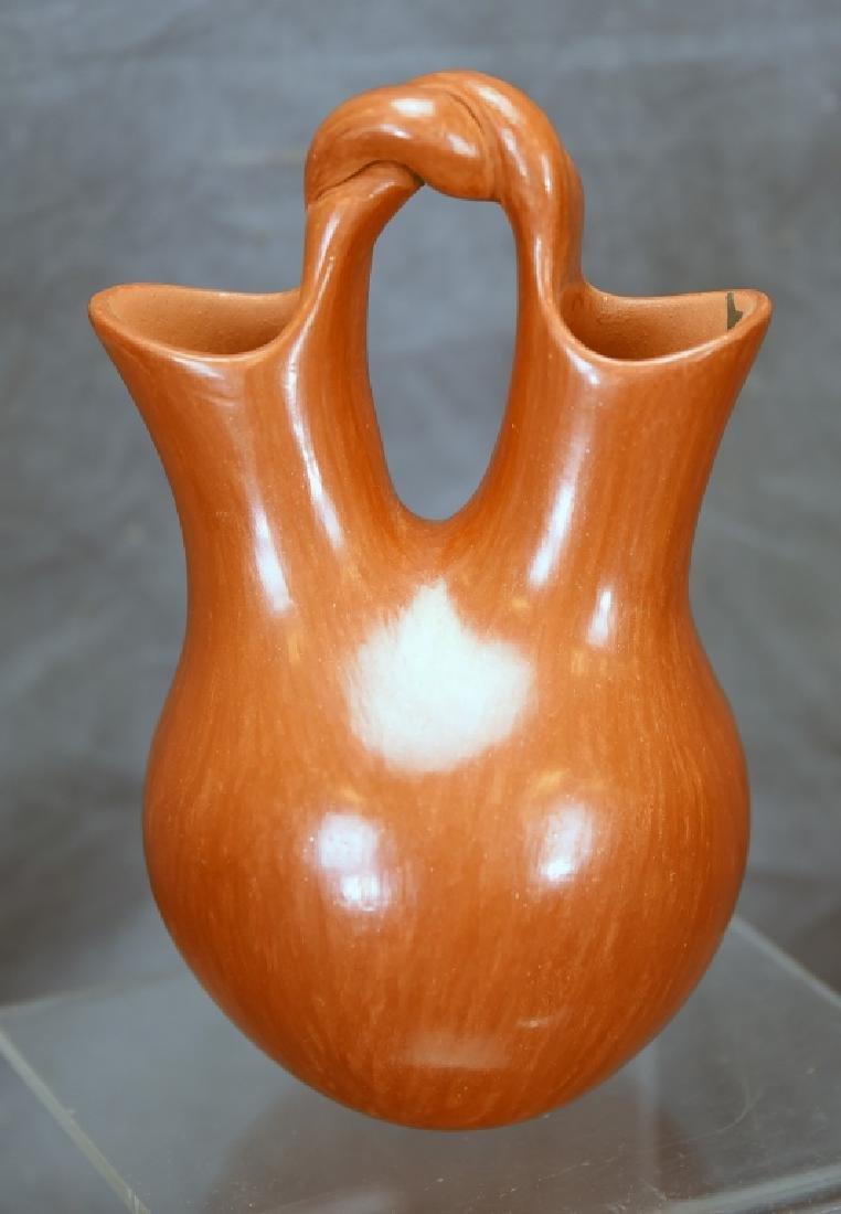 Juanita Fagua Native American Redware Pottery Jug - 4