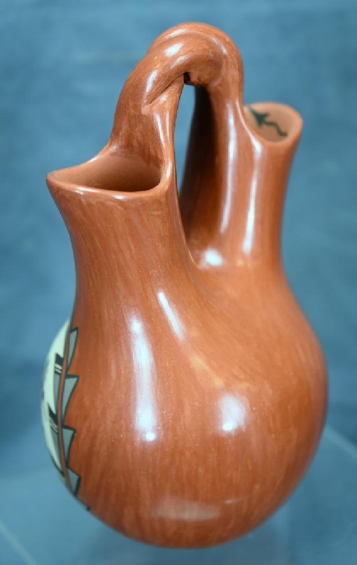 Juanita Fagua Native American Redware Pottery Jug - 5