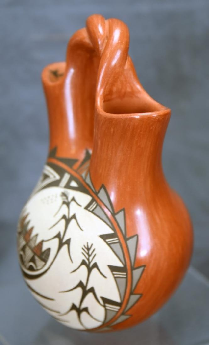 Juanita Fagua Native American Redware Pottery Jug - 6