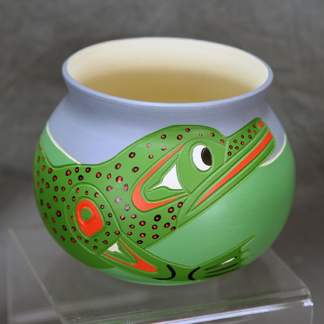 Stewart Jacobs Squamish Pottery Frog Jar