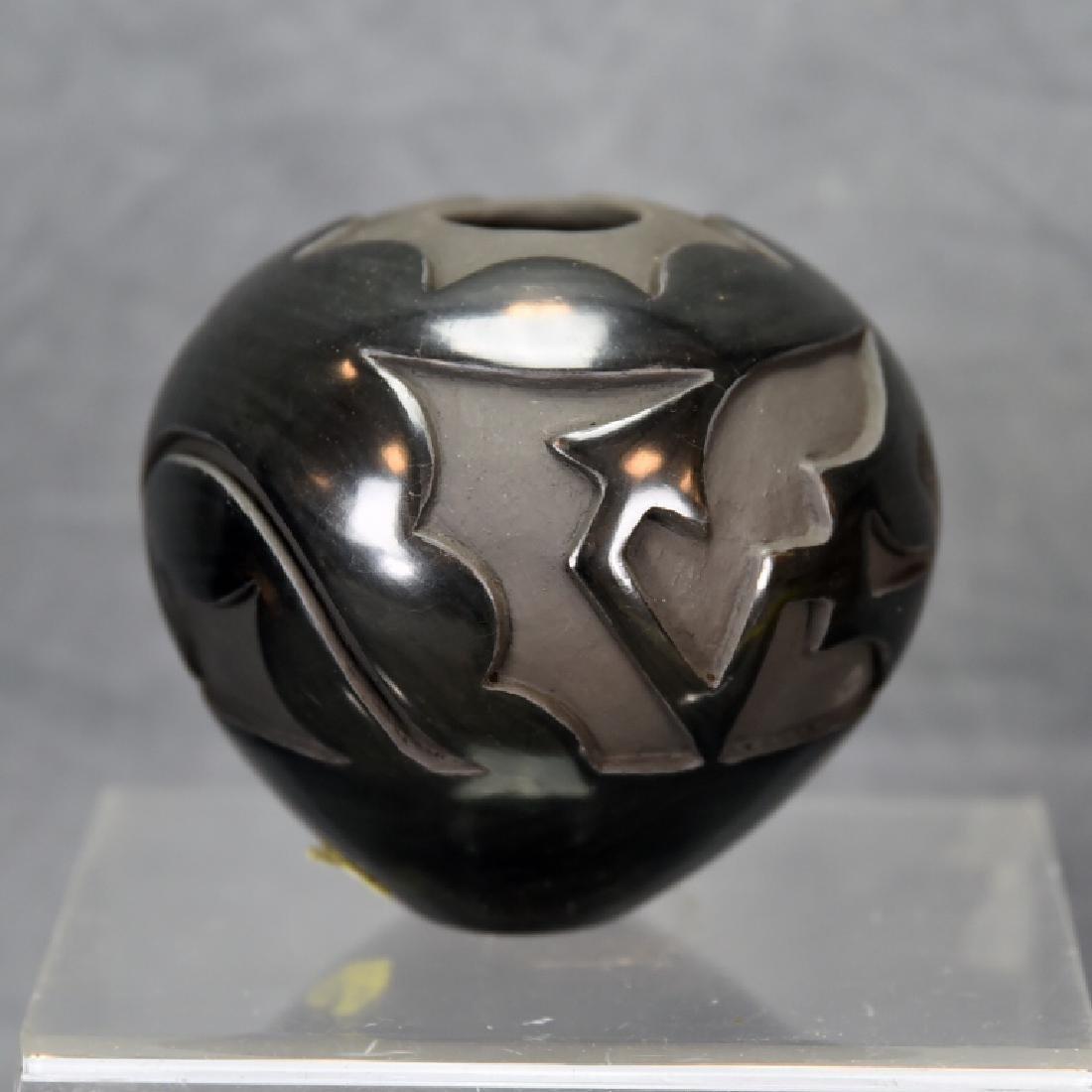 Angela Salazar Santa Clara Pueblo Blackware Pot