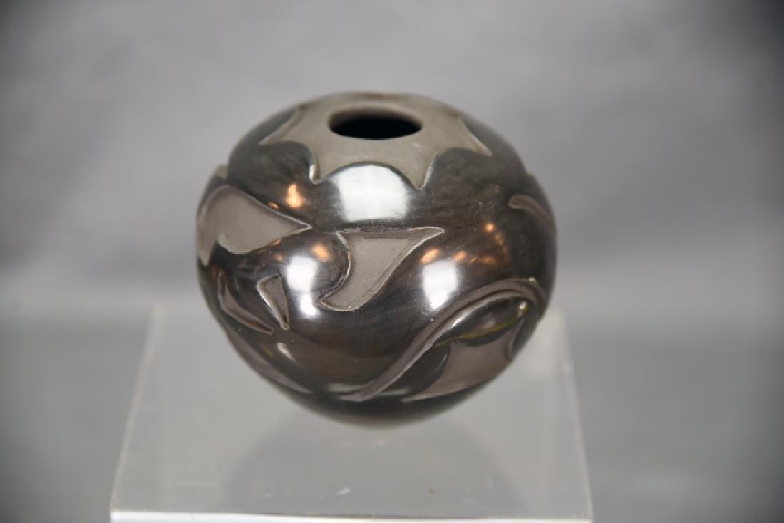 Angela Salazar Santa Clara Pueblo Blackware Pot - 2