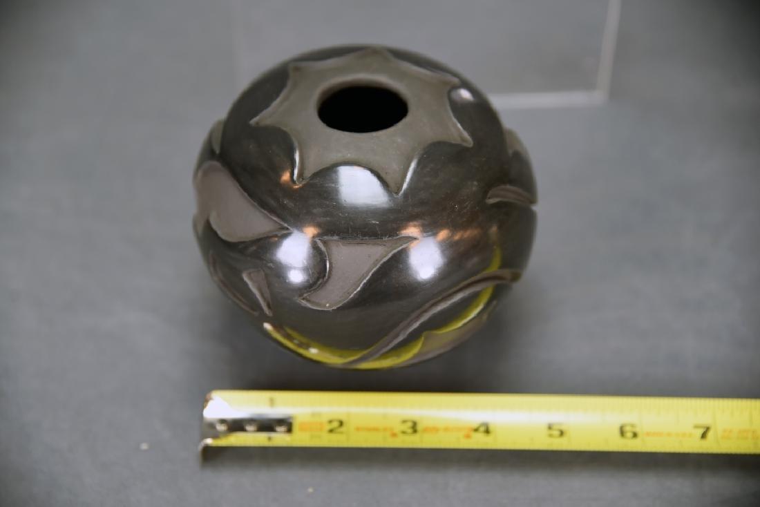 Angela Salazar Santa Clara Pueblo Blackware Pot - 3