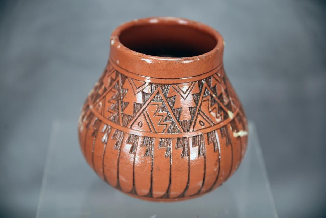3 Signed Navajo Native American Pots - 10