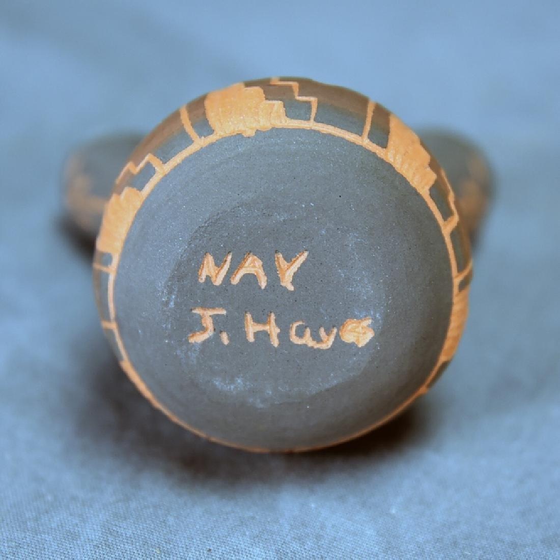 3 Signed Navajo Native American Pots - 4