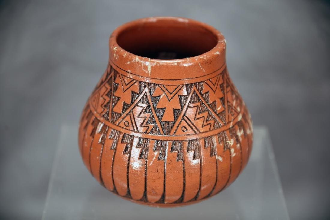3 Signed Navajo Native American Pots - 8