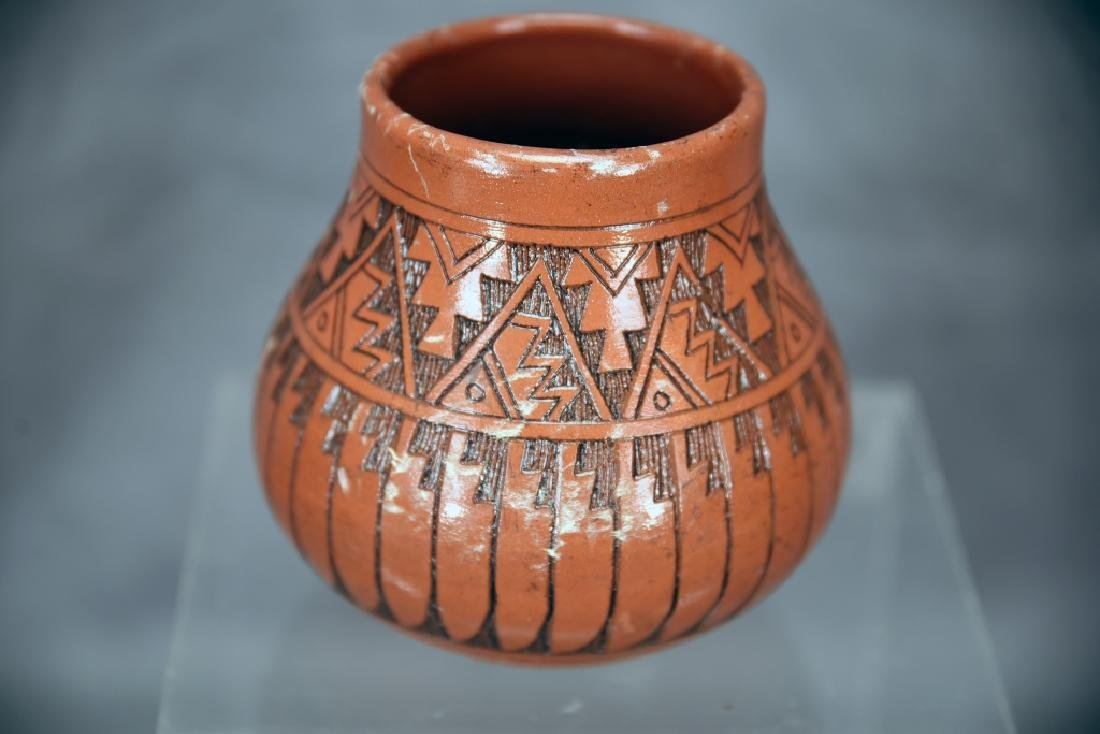 3 Signed Navajo Native American Pots - 9