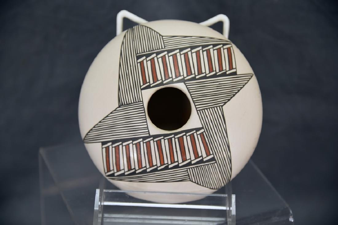 Vintage Native American Acoma Pot - 3