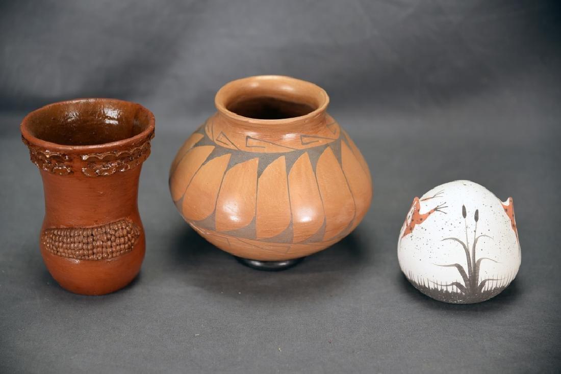 3 Native American Pots, Tso, Zuni…