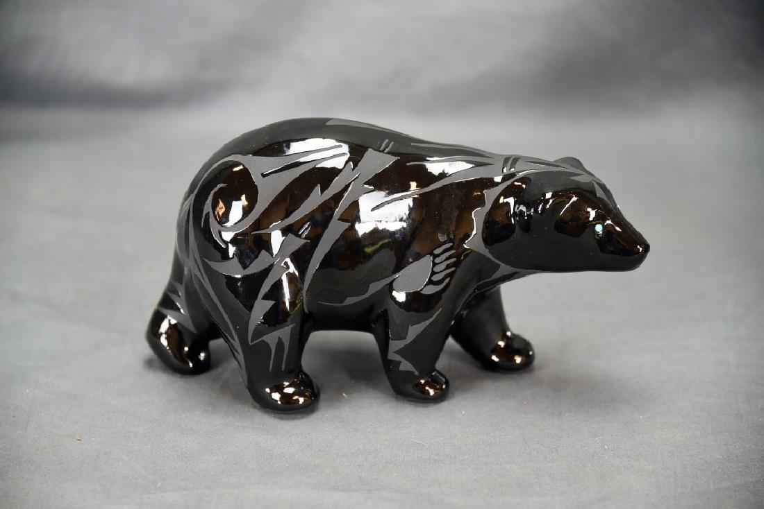 2 Pieces Ben Saxon Navajo Black Pottery - 2
