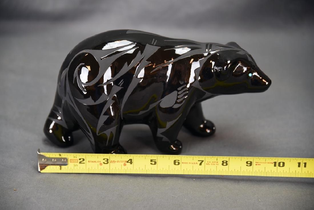 2 Pieces Ben Saxon Navajo Black Pottery - 3