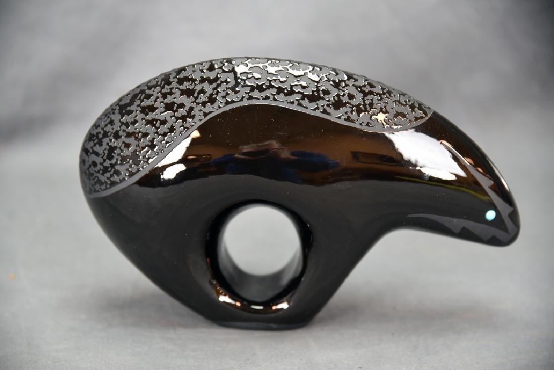 2 Pieces Ben Saxon Navajo Black Pottery - 9