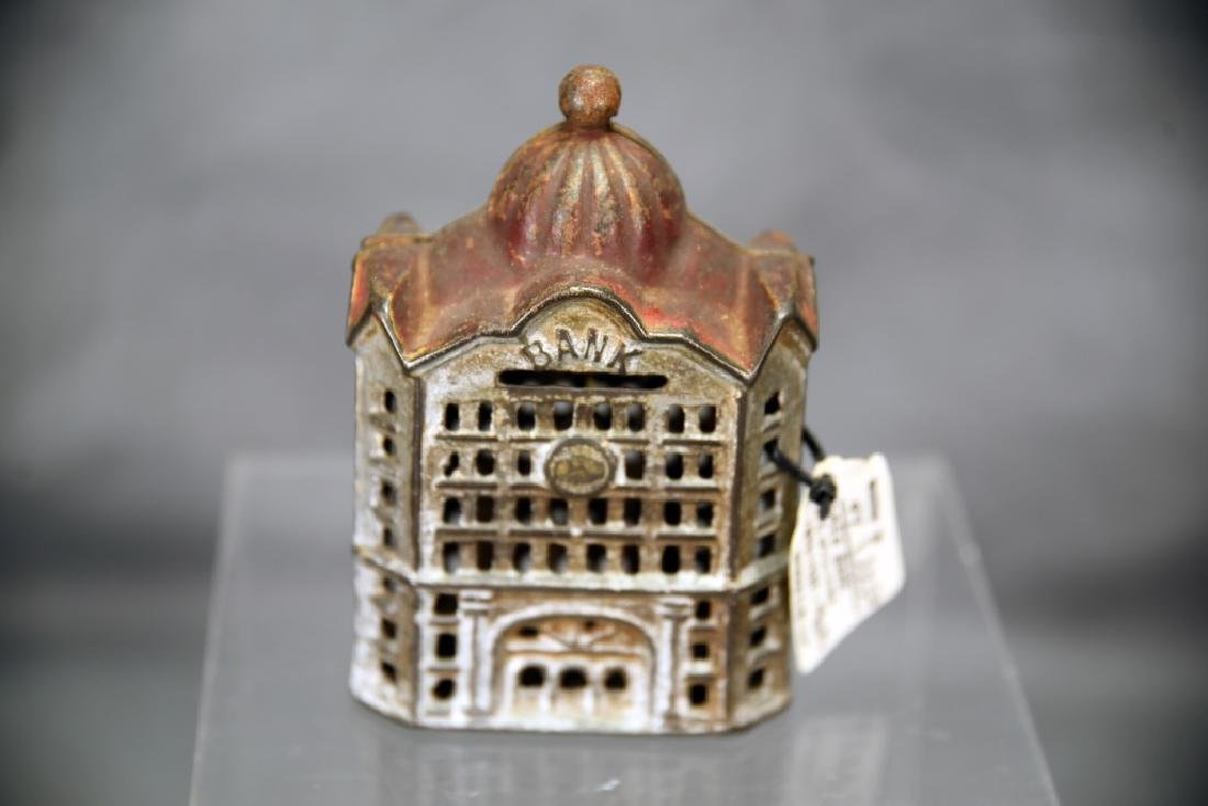 3 Cast Iron Architectural Still Banks, Domes - 6