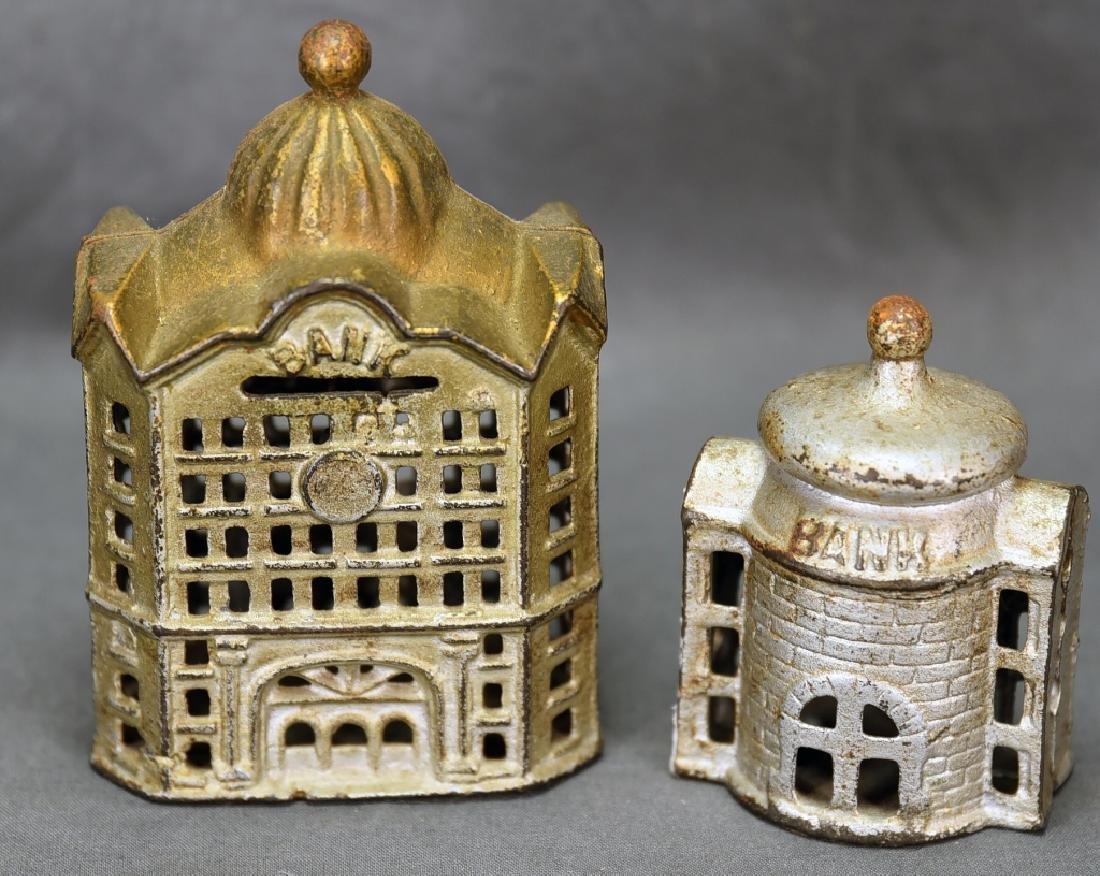 2 Cast Iron Architectural Still Banks