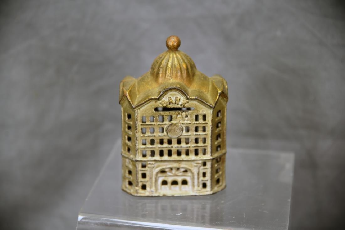 2 Cast Iron Architectural Still Banks - 3